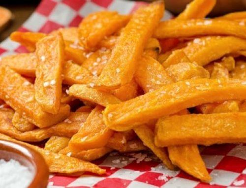 Recept voor gezonde zoete aardappel frietjes